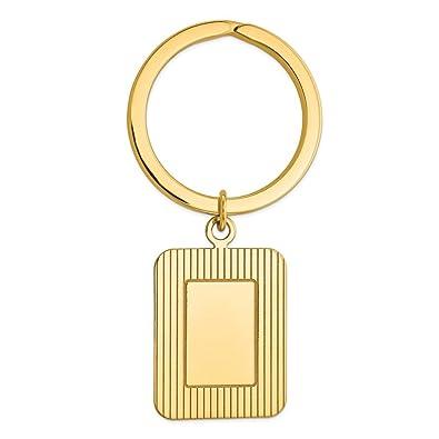 Mia Diamonds - Llavero rectangular de oro amarillo macizo de ...