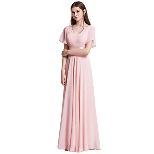 Ever-Pretty Womens Short Sleeve V-Neck Long Evening Dress 09890