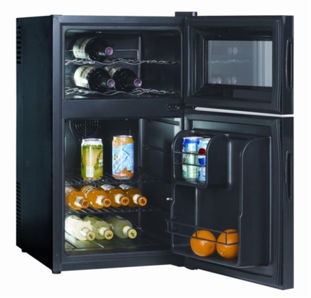 Jindowine Nevera cristal puerta refrigerador de vino, negro (69 ...