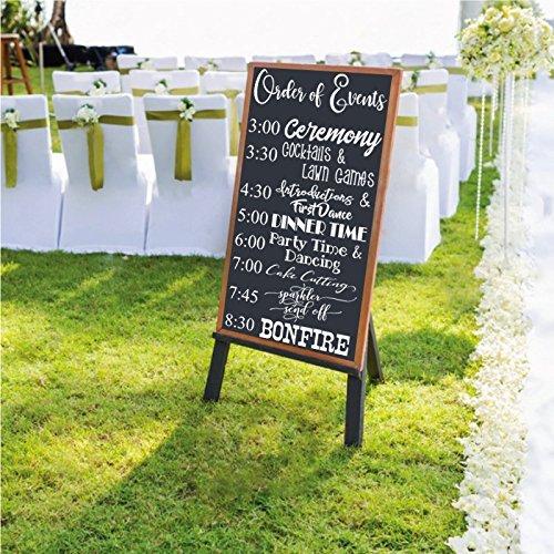 Amazon Wedding Customizable Welcome Order Of Events Sign