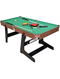 Funmall 6ft Folding Billiard Table Pool Table With Snooker Ball Sets, Green