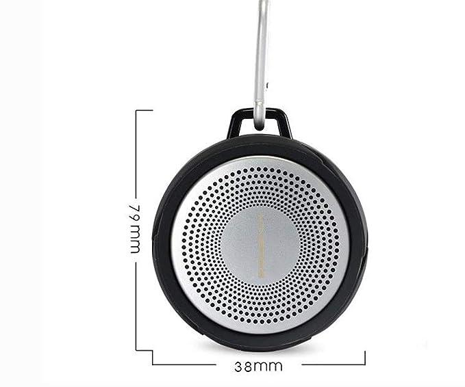 Exterior Impermeable Altavoz Bluetooth Portátil Llamada Piscina Bajo Pesado Revólver: Amazon.es: Electrónica