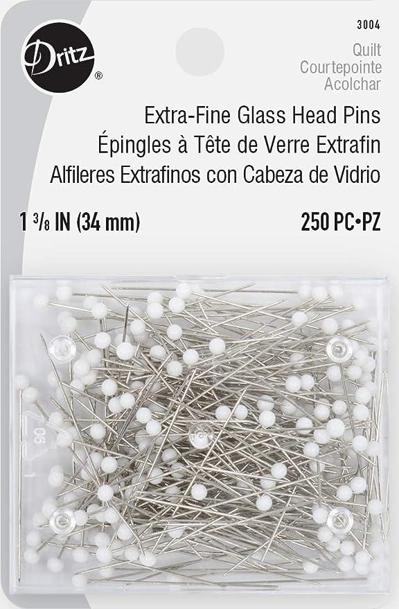 pins pins 80 fine glass head