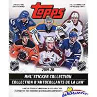 2019/20 Topps NHL Hockey HUGE 50 Page Stickers Collectors Album with TEN(10) Bonus Hockey Stickers ! Great Hockey Collectible to House all your NEW Topps NHL Stickers! Makes a Great Gift! WOWZZER!