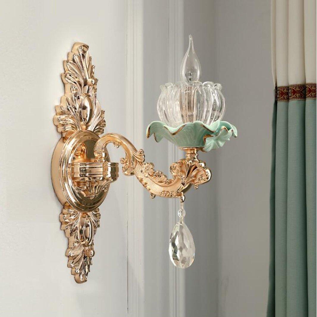 Lrw Cristal Français Applique Céramique Double Tête Simple Lampe
