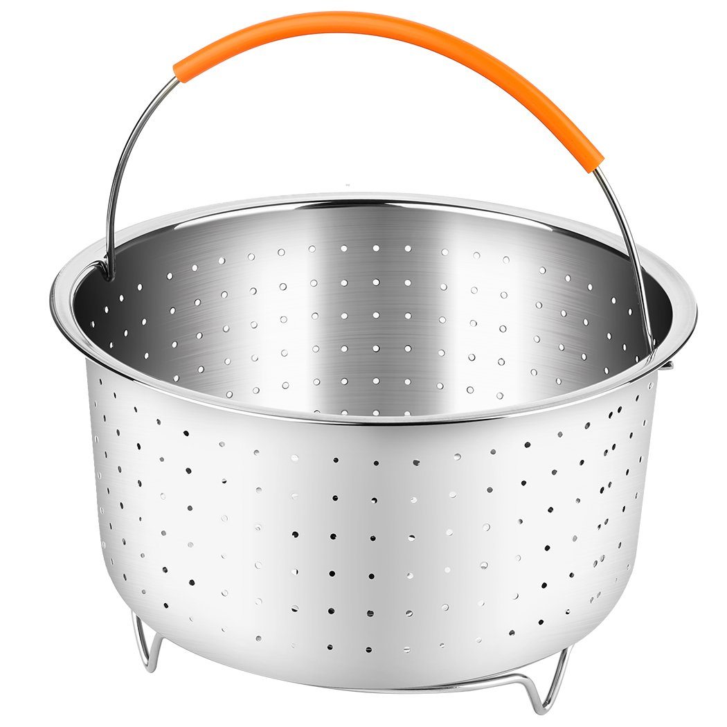 PPUNSON Vegetable Steamer Basket for 6 or 8 Quart Pressure Cooker
