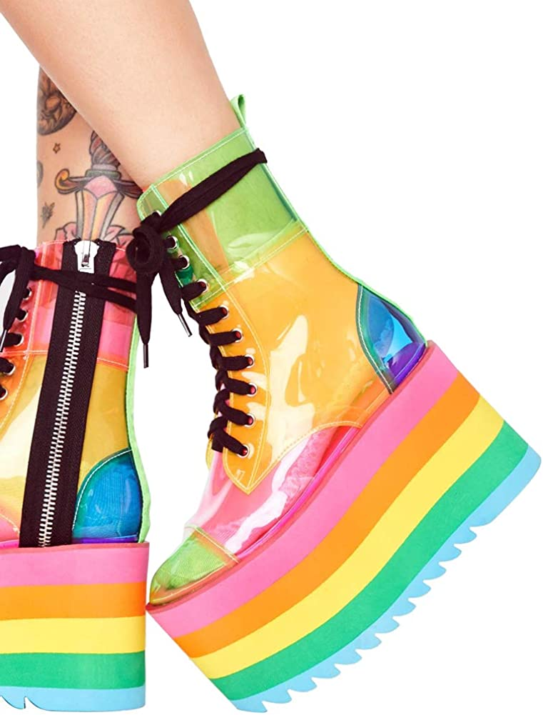 Ankle Boot Colorful Waterproof Shoes