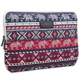 BRINCH 14 Inch Cute Elephant Patterns Canvas Fabric Laptop Sleeve Case Bag Cover