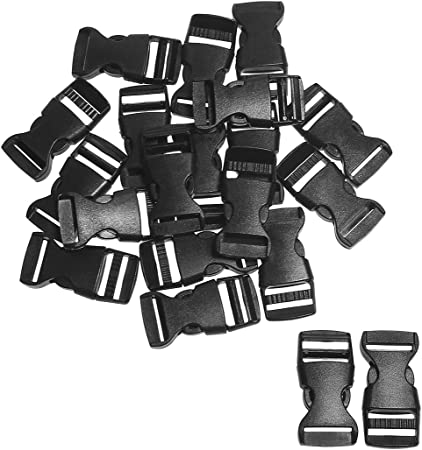 Plastic Buckles Curved Side Adjustable for Luggage Straps Pet Collar Backpack
