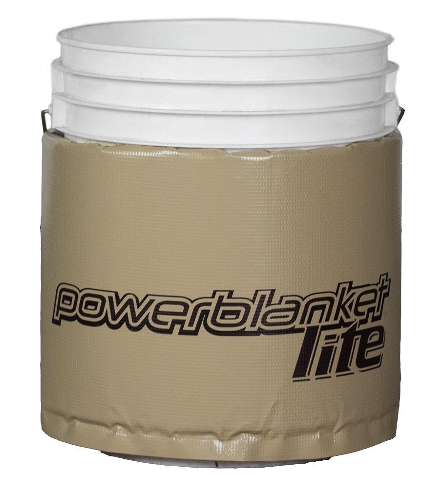 powerblanket pbl20 de EU Lite aislado Calefacción, cubo Manta eléctrica, fija Termostato Mantener a 63 °C, 20 L, color gris oscuro: Amazon.es: Industria, ...