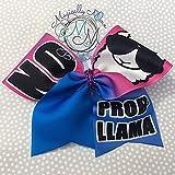 Cheer bow, llama probllama hair bow social media, unique