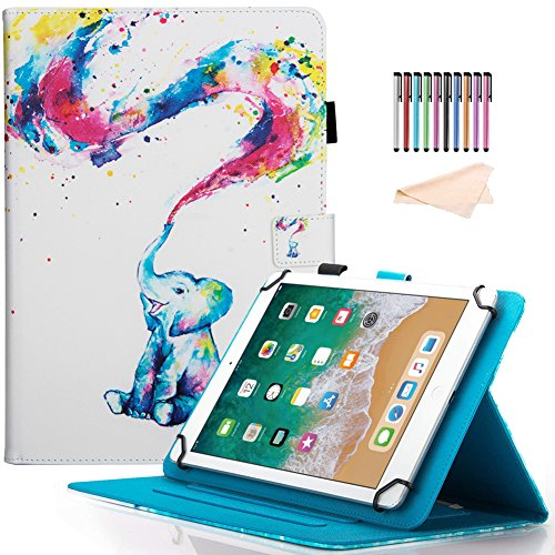 Universal 7 inch Portable Tablet Case, Motie Colorful Painting Wallet Stand Case Cover, Fit All Universal 6.5-7.5 inch (Tab A 7.0/Tab 4 7.0/Tab 3 Lite 7.0/Tab J 7.0/F i r - Case Rca 7 Universal Tablet Inch