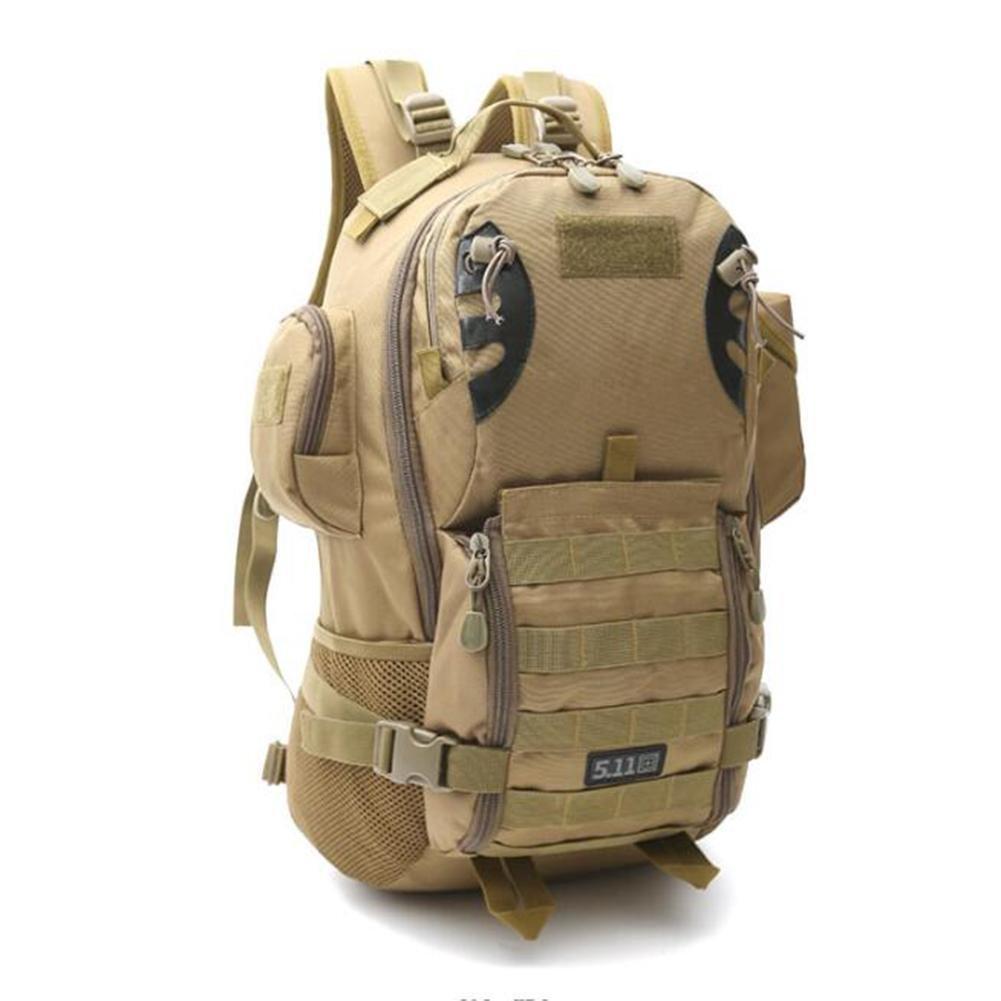 KHAKI  SHIQUNC Sac à Dos Camuflage Haute capacité Ensemble Tactique Randonnée pédestre Escalade Sac à Dos en Plein air