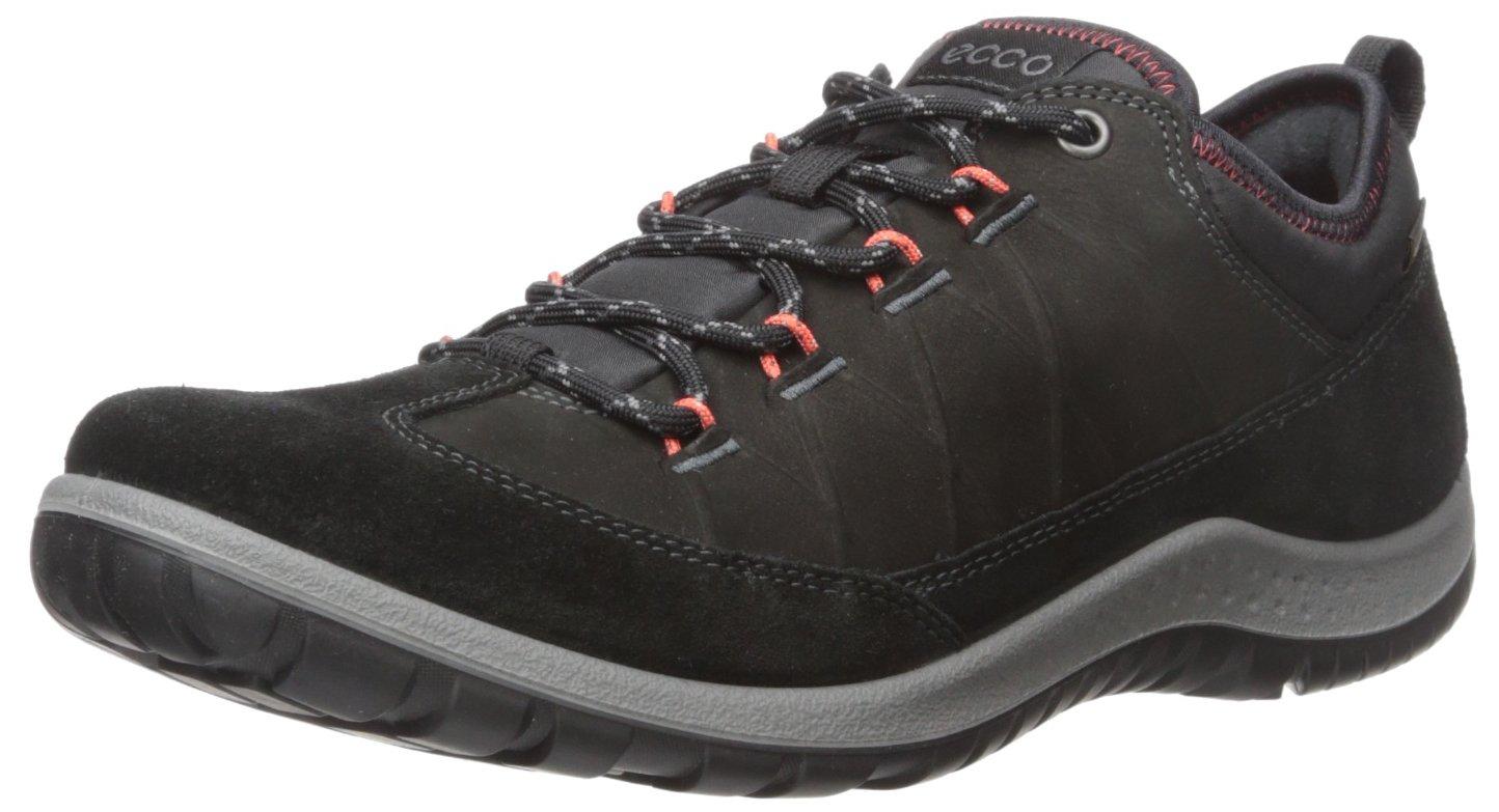 ECCO Women's Aspina Low Gore-TEX-W Hiking Shoe, Black/Black, 38 EU/7-7.5 M US