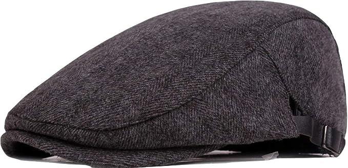 Fasbys Ambysun Sombrero de Hombre, Sombrero clásico de la Boina de los Hombres Elegante Sombrero Suave de la Hiedra Gorro de algodón Sombrero de papá Ajustable (Gris): Amazon.es: Ropa y accesorios
