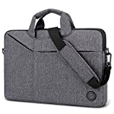 Laptop Bag,BRINCH Slim Water Resistant Laptop Messenger Bag Portable Laptop Sleeve Case Shoulder Bag Briefcase Handbag with Strap for Up to 15.6 Inch Laptop/Notebook Computer Men/Women,Dark Grey