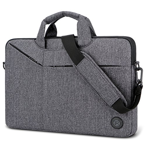 Laptop Bag,BRINCH Slim Water Resistant Laptop Messenger Bag Portable Laptop Sleeve Case Shoulder Bag Briefcase Handbag with Strap for Up to 15.6 Inch Laptop/NoteBook Computer Men/Women,Dark Grey by BRINCH (Image #9)