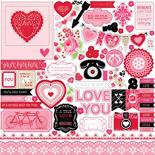 Echo Park Paper Company Love Story Collection Scrapbooking Kit by Lori Whitlock 12x12