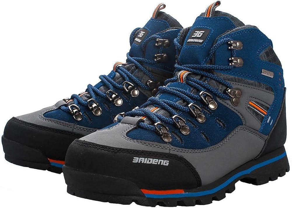 YAER Hombre Botas De Senderismo Trekking A Prueba De Agua Zapatos Al Aire Libre
