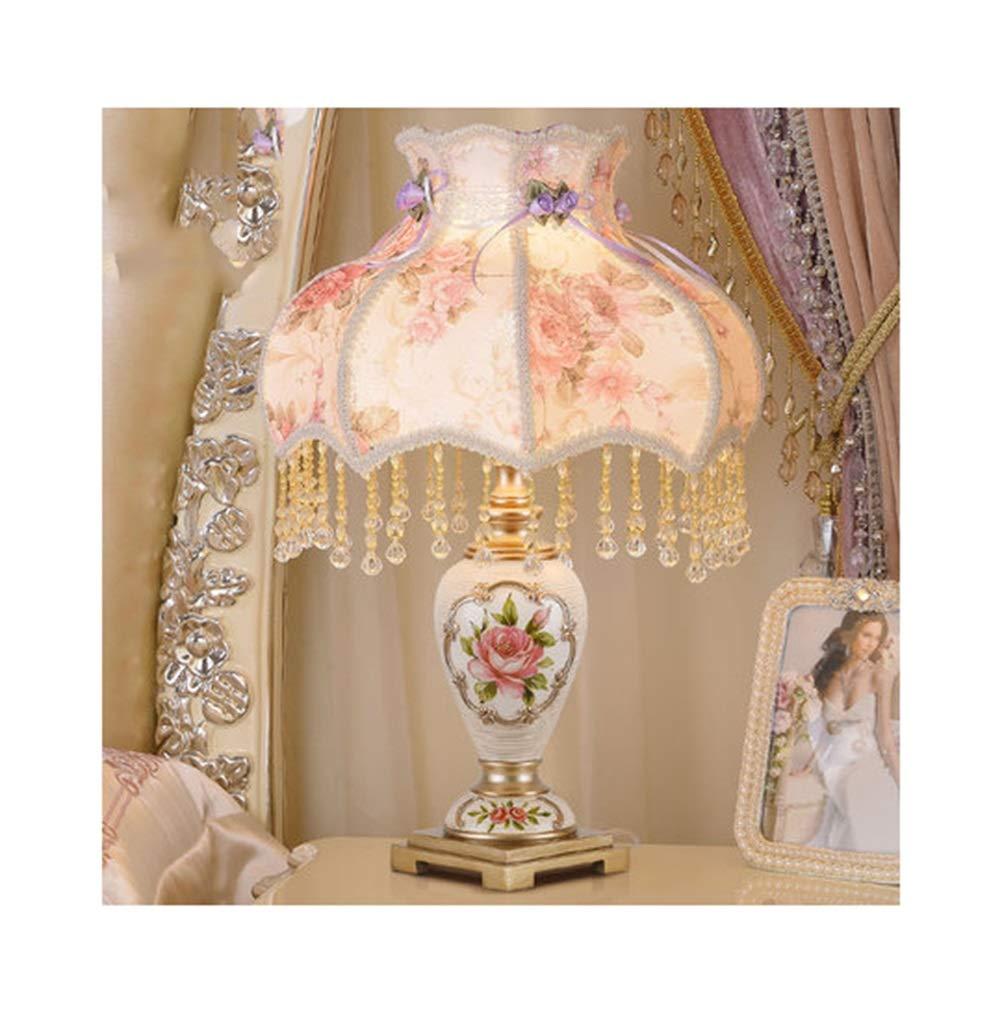 テーブルランプ高級クリエイティブシンプルな結婚式の部屋の装飾デスクランプ暖かい王女の生活人格読書ランプ (色 : O, 設計 : Remote control) B07N6FNV49 U ボタン ボタン|U