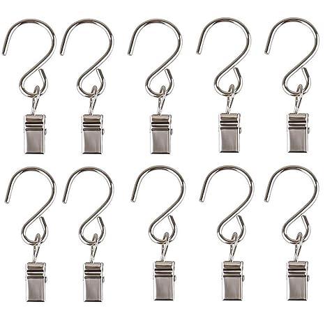 Amazon.com: gimvavo 50 unidades clip de acero inoxidable ...