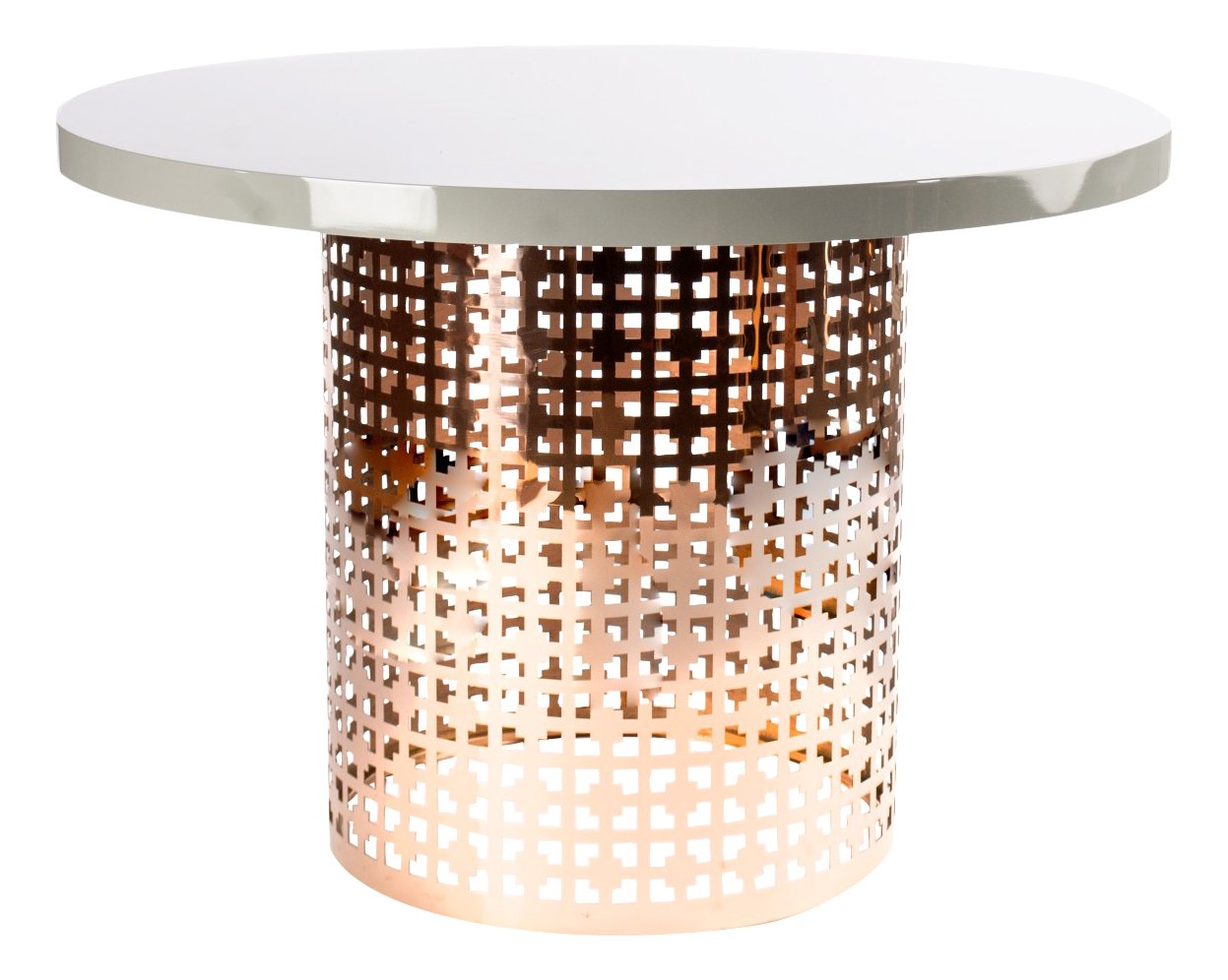 Statements by J CT1-WHT002ROSE Dior Coffee Table
