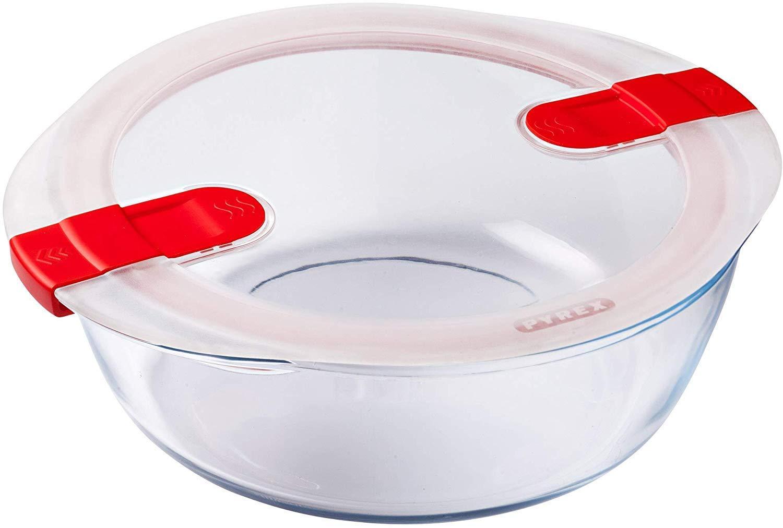 Pyrex Cook & Heat Recipiente hermético con válvulas de Vapor de ...