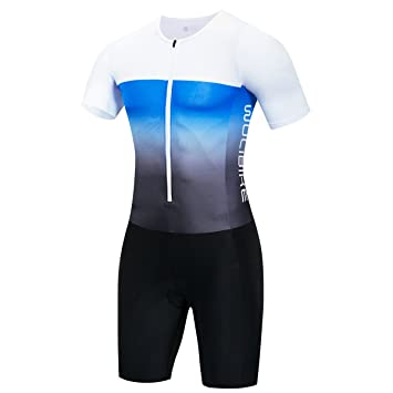 logas Herren Triathlon Tri Suit Short Sleeve Quick Dry