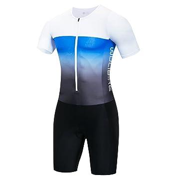logas Maillot Cuissard Triathlon Homme Combinaison de Nage Manche Courte d9b14a14765