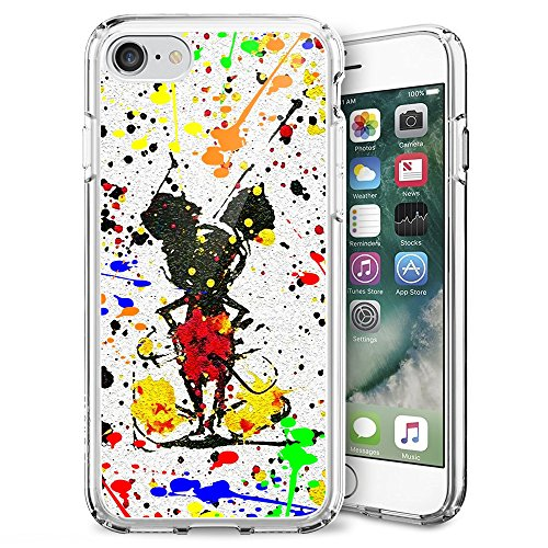 "Mickey Mouse iPhone 7 4.7"" Case, Onelee Mickey Mouse Clear TPU Case for iPhone 7 4.7"" [Scratch proof] [Drop Protection]"