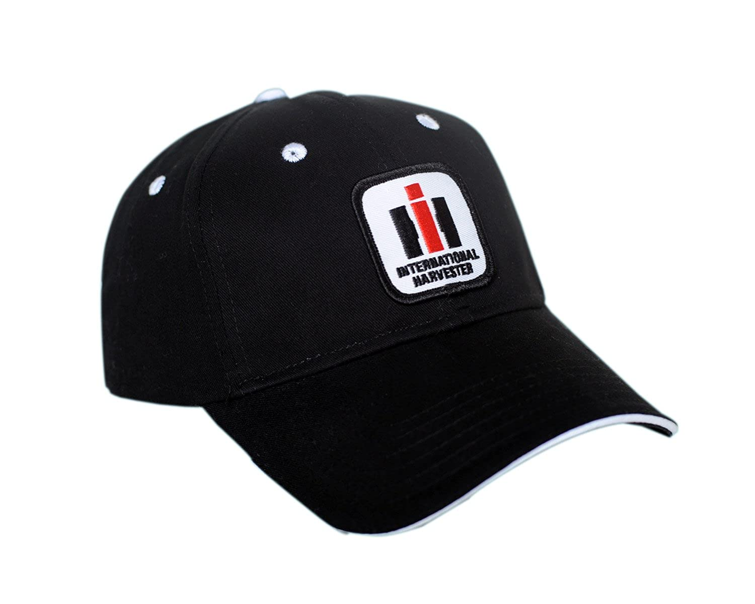 87605624 J&D Productions International Harvester IH Logo Hat, Black with White  Accents at Amazon Men's Clothing store:
