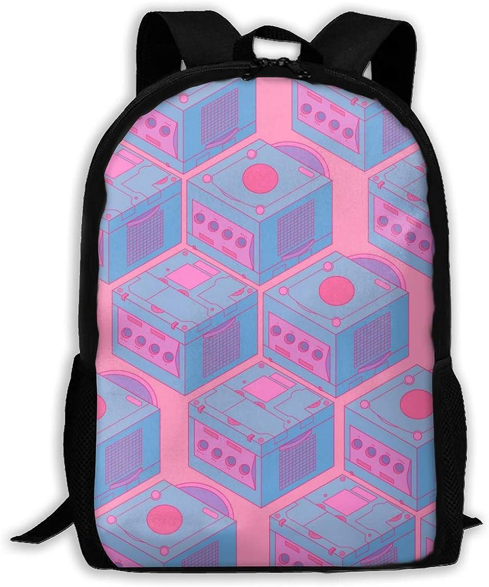 NO2BB Durable 3D Print Laptop Backpack,Star Collage School Bag Multi-Function Knapsack Rucksack