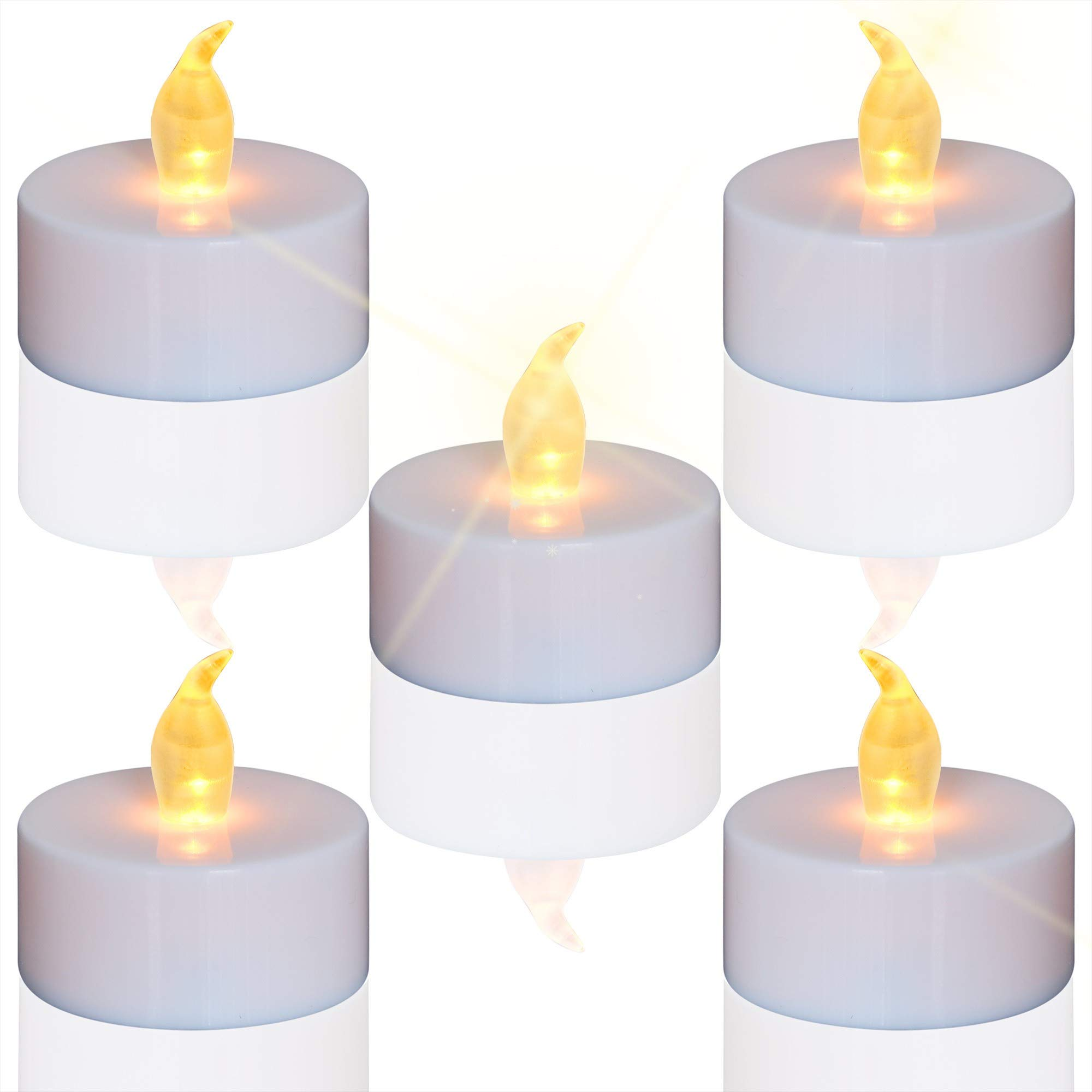 Flameless LED Tea Lights Candles (50 Tea Lights and 1000 PCS Faux Petals), Flickering Warm Yellow, Battery-Powered Tealight Candle, Ideal for Party, Wedding, Birthday, Gifts and Home Decoration
