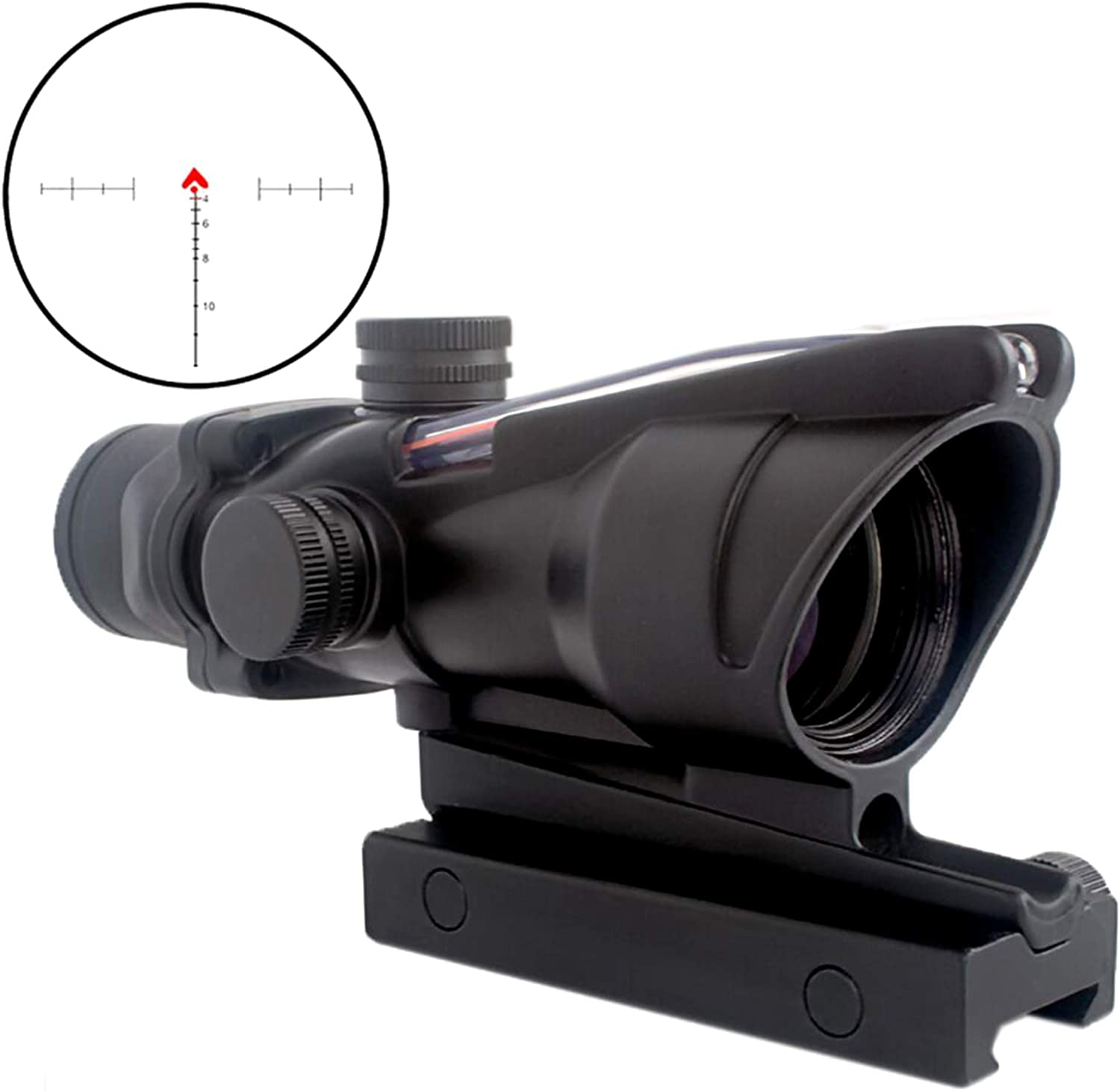 3. CRUSHUNT 4x32 Red Chevron Glass Etched Reticle Real Fiber Optics Tactical Optical Sights Scope