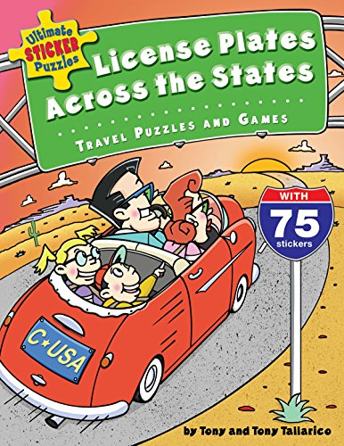 Ultimate Sticker Puzzles: License Plates Across the States: Travel Puzzles and Games