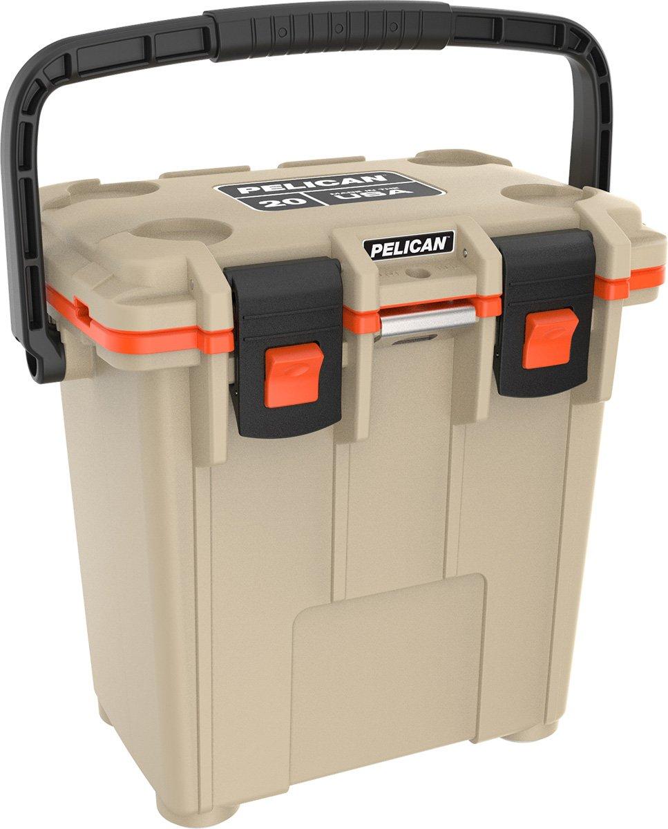 Pelican 20Q-2-TANORG Elite 20 Quart Cooler (Tan/Orange)