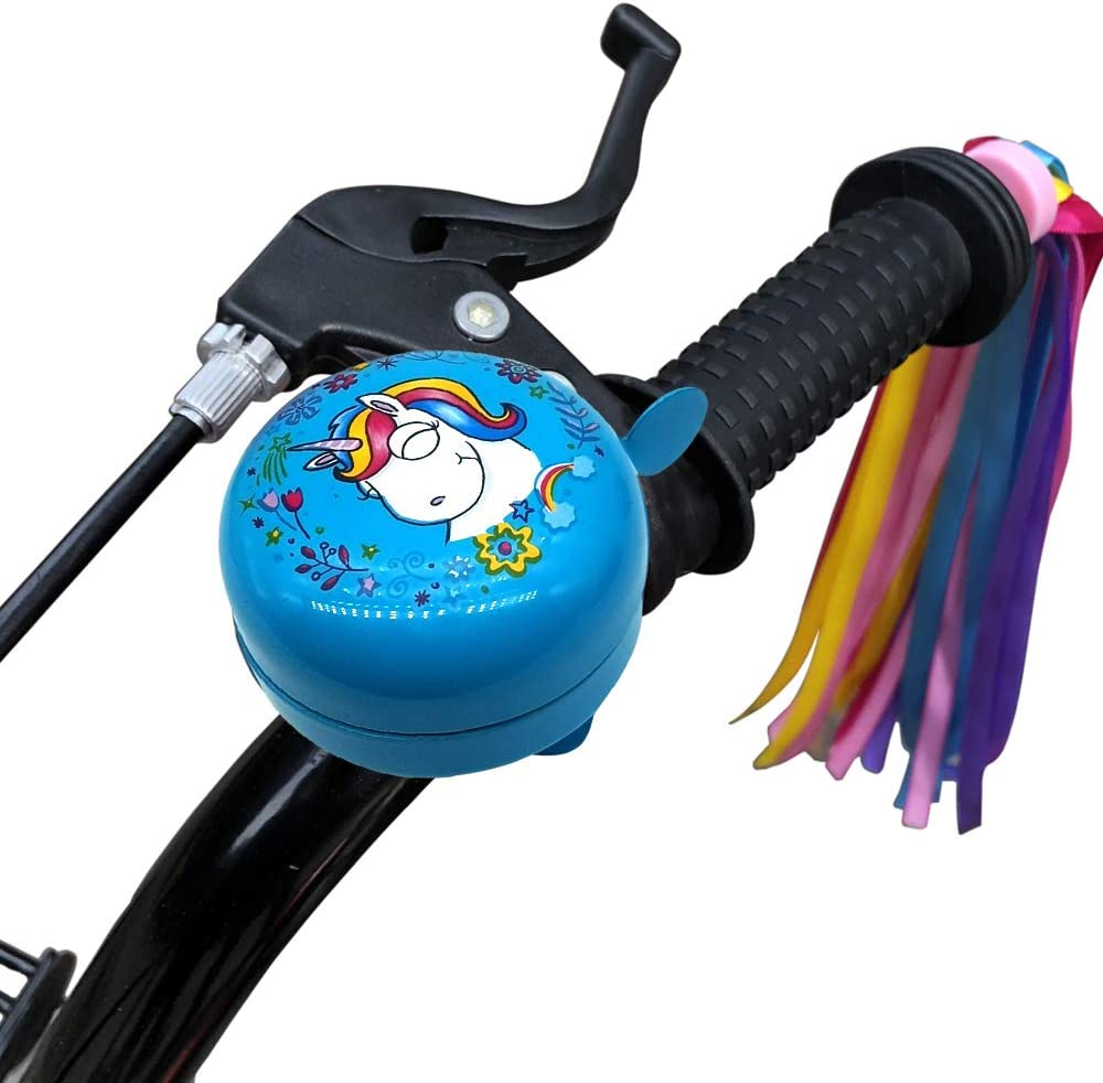 kortes Bike Bell for Kids Updated Design Bicycle Handlebar Bell Childrens Bike Accessory Safe Cycling Ring