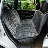 TAILMATE Dog Car Seat Cover with Quilted Waterproof & Non-slip Backing Hammock, Anchors, Extra Side Flaps for Cars, Trucks and SUV's (gray)