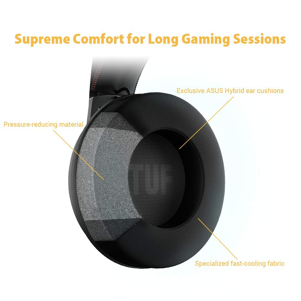 7.1 virtuel ASUS Jaune Casque Gaming ASUS TUF H7 Wireless