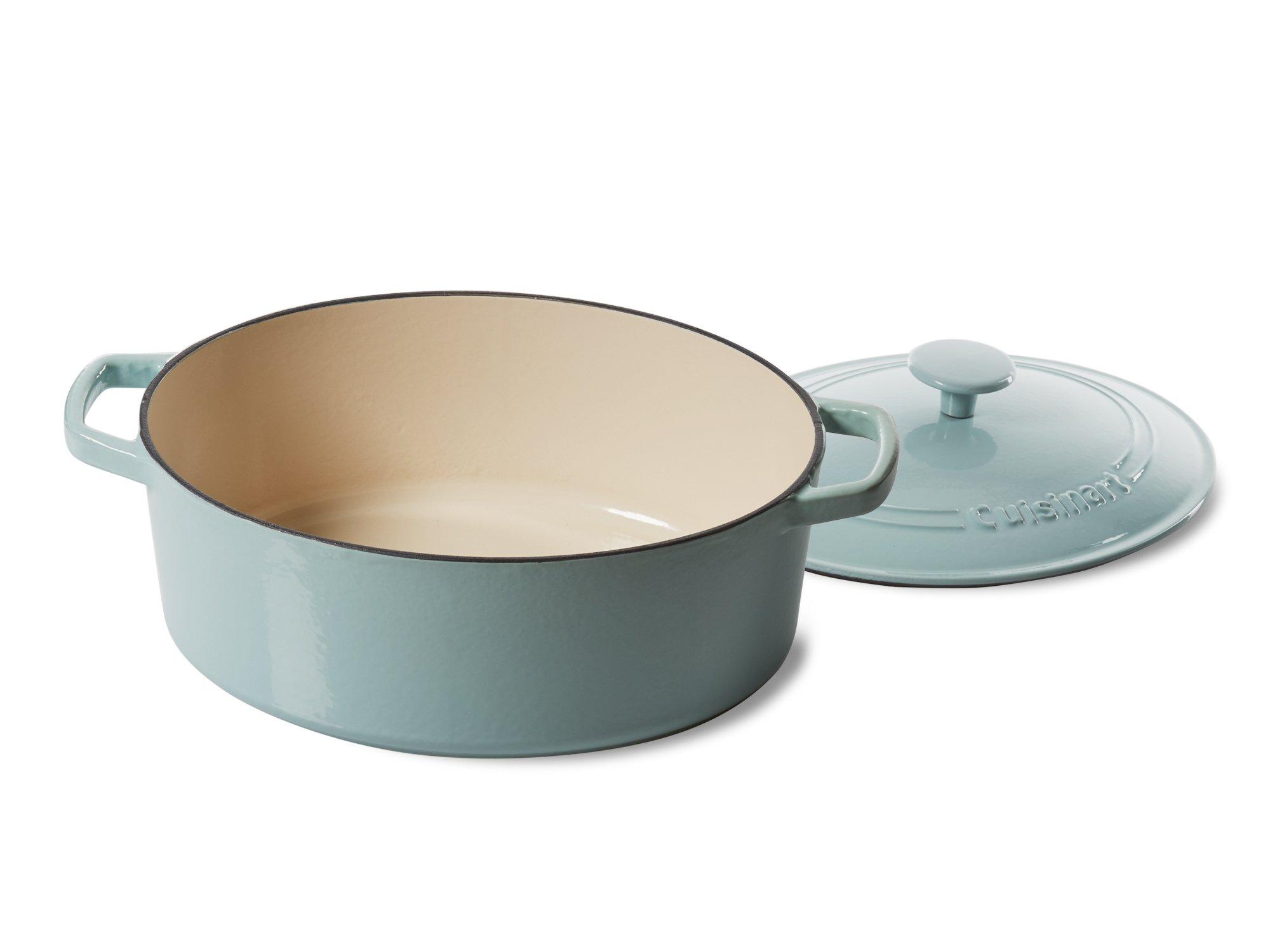 Cuisinart 5.5 Qt. Casserole Cast Iron, Light Blue by Cuisinart (Image #2)