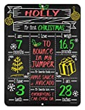 Babies First Milestone Chalkboard Style Metal Sign Reusable Photo Prop for Events and Holidays
