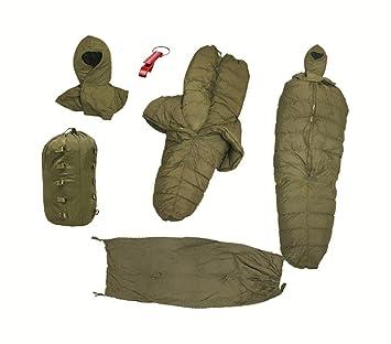 Original del Ejército Alemán KSK Invierno profesional Saco de dormir Temp Rango de 35 grados: Amazon.es: Deportes y aire libre