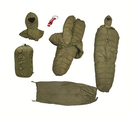 Original del Ejército Alemán KSK Invierno profesional Saco de dormir Temp Rango de 35 grados