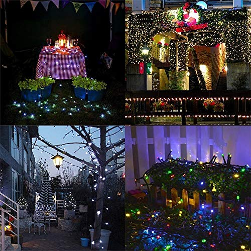 Tuscom 65.6 Feet 200 LED Colorful String Lights,8 Function for Bathroom Festival Holiday Furnishing Window Curtain Xmas Decoration (Colorful) by Tuscom@ (Image #3)