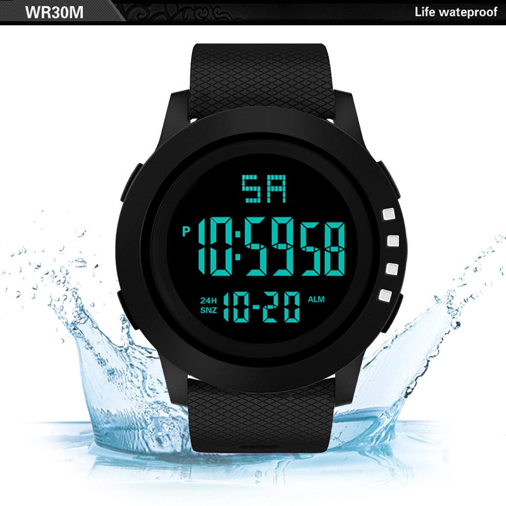 Digital Watches for Men DYTA LED Sport Wrist Watches 5ATM Waterproof Outdoor Watch on Sale on Clearance Military Quartz Watchs with Rubber Silicone Strap ...