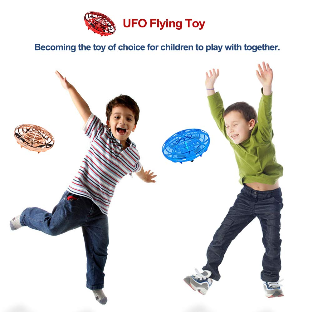 PerfectPromise UFO Flying Toys for Kids, Hand Controlled Mini Drone UFO Toy with 360° Rotating and LED Lights for Children Boys Girls---Red by PerfectPromise (Image #5)