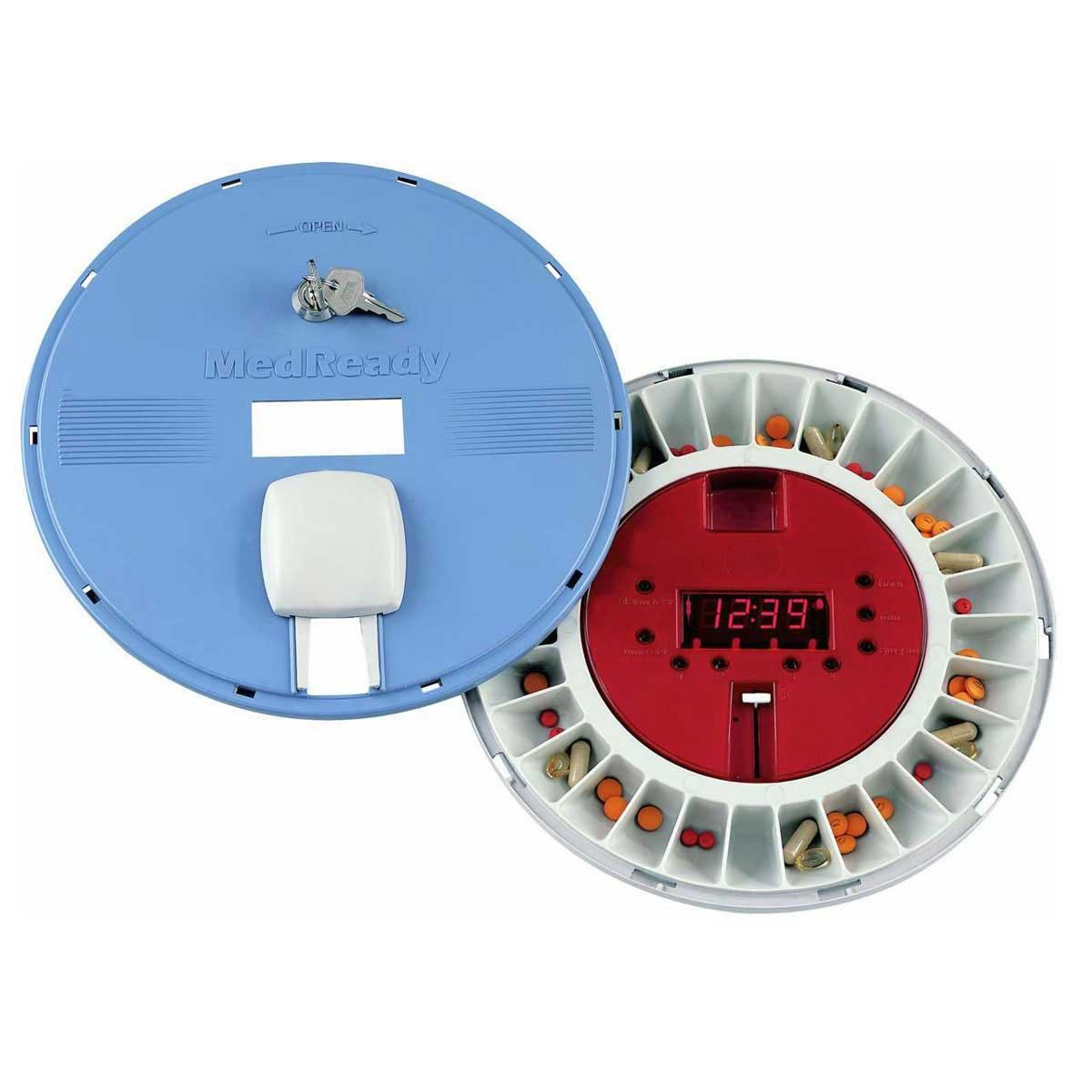 MedReady P1600 Medication Dispenser with Flashing Light and Lower Frequency Alarm by MedReady