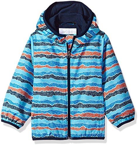 Toddler Columbia Mini - Columbia Kids' Toddler Mini Pixel Grabber Ii Wind Jacket, Riptide Stripe, 3T