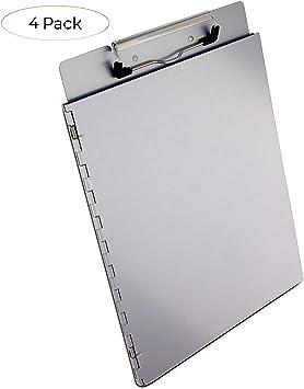 Clipboard Storage Form Holder Portfolio Aluminum Binder Box Saunders OfficeMate