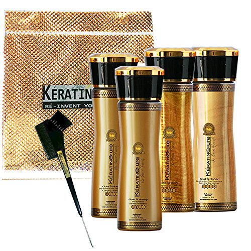 Keratin Cure Best Treatment Gold and Honey Bio 10 Ounces for